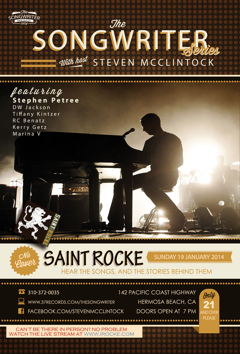 The Songwriter flyer